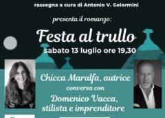 """Domenico Vacca presenta """"Festa al trullo"""" di Chicca Maralfa al Grand Hotel delle terme a Margherita di Savoia"""